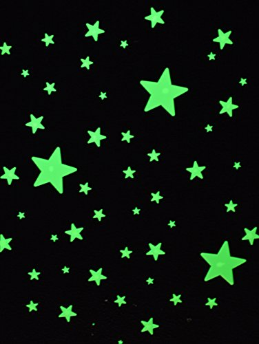 Great Explorations Wonder Stars Super Kit Glow In The Dark Ceiling Stars 150Piece In 4 Sizes Reusable Adhesive Putty & Constellation Star Map Lifetime Glow Guarantee