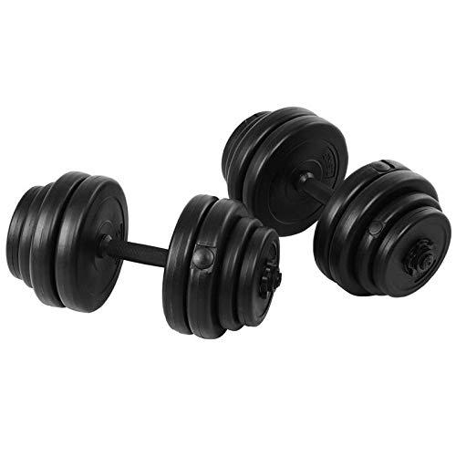 XUEXIU 64 LBS Juego De Pesas Extraíbles De Peso Regulable Equipo De Fitness con Cerraduras De Estrellas Pasas De Gimnasio Premium (Color : Black)