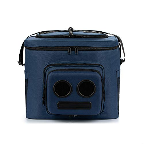 The #1 Cooler with Speakers on Amazon. 20-Watt Bluetooth Speakers & Subwoofer for Parties/Festivals/Boat/Beach. Rechargeable, Works with iPhone & Android (Blue, 2021 Edition)