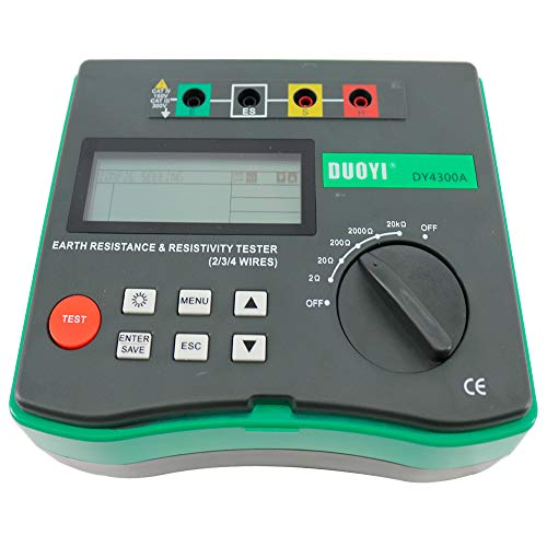 Tongbao DY4300A 4-Terminal Multimeter Tester Electrical Instrument Earth Ground Resistance and Soil Resistivity Tester