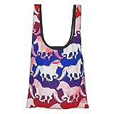 Bolsa de la compra reutilizable y lavable con diseño de caballo anudado de 22,7 kg plegable y respetuosa con el medio ambiente.
