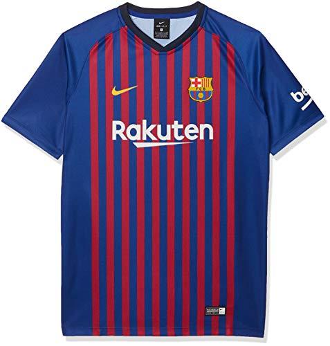 NIKE FC Barcelona Home Camiseta, Infantil, Deep Royal Blue/University Gold, Extra-Small