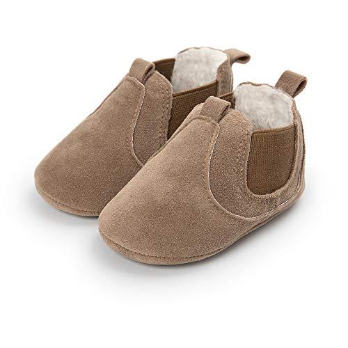 Bebe Zapatos de Primeros Pasos, Morbuy Otoño e Invierno 0-18 Meses Recién Nacido Cuna Suela Niño y Niña Blanda Antideslizante Zapatillas (1 / 11cm / 0-6 Meses, Camello)