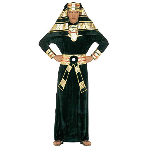 Widmann 32653 - Kostüm Pharao, Tunika mit Halsband, Gürtel und Kopfbedeckung, Antike, Gott, Ägypten, Verkleidung, Karneval, Mottoparty