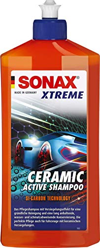 SONAX XTREME Ceramic ActiveShampoo(500 ml) das Pflegeshampoo mit Versiegelungseffekt für eine gründliche Reinigung und eine lang anhaltende,wasser-und schmutzabweisende Konservierung|Art-Nr. 02592000