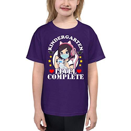 AidaShopGift Kindergarten 2021 Graduation Youth T-Shirt Gift for Kids, Kindergarten Quarantine Shirt Purple