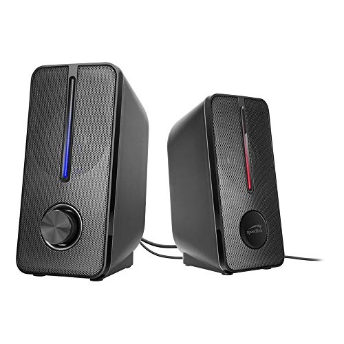 Speedlink BADOUR Illuminated Stereo Speaker, jack audio stereo da 3,5 mm, nero