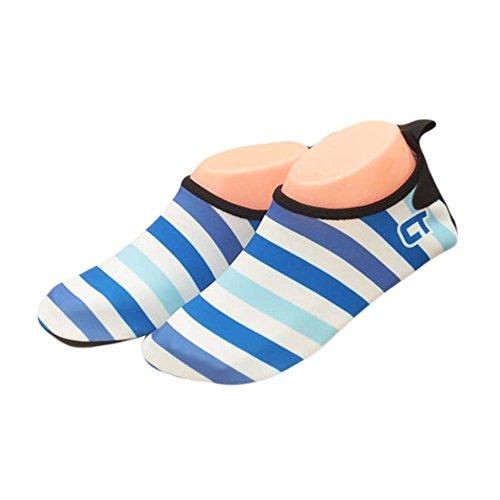 Blancho Sandales de Plein air Stripe Kids Chaussures de Plage Chaussures d'eau Chaussettes de Chaussures dou
