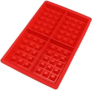Chocolate Pan Baking Mould Decoration Silicone 4-Cavily Waffles Cake Mold