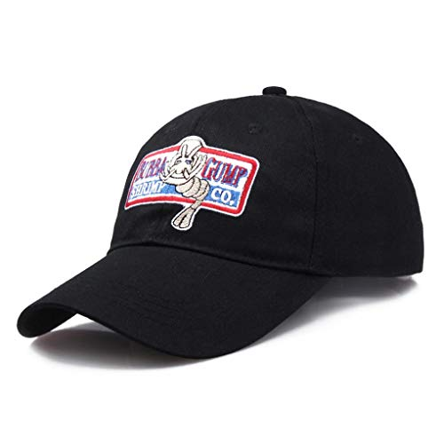 AMOYER Baseball Registrabile Della Protezione Bubba Gump Shrimp Ricamati Cappelli Di Snapback Di Sport Del Cappello Di Sun (Nero)