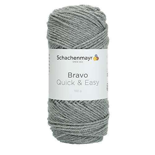 Schachenmayr 9807590-08295 - Hilo para tejer a mano, 100% poliacrílico, color gris claro jaspeado,...