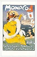 ポスター アレキサンダー グラン CANOTS AUTOMOBILES 額装品 アルミ製ハイグレードフレーム(ホワイト)