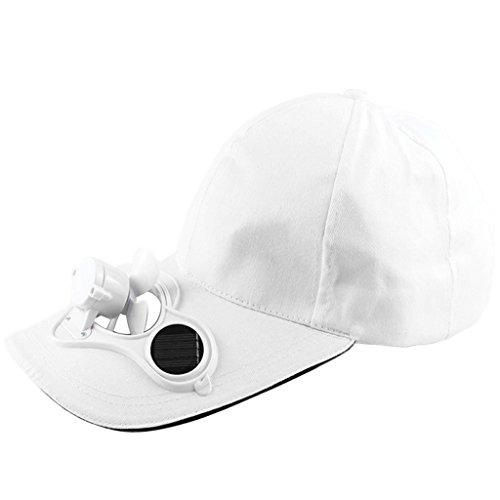 CADANIA Ventilatore a Pannello Solare Raffreddamento Cappellino da Baseball Sport Estivi Cappellino...