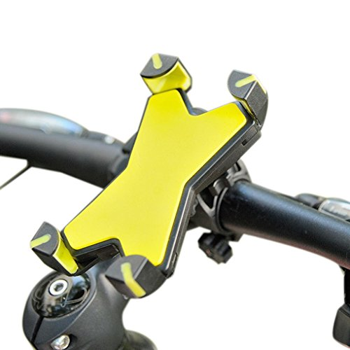 Universal Motorcycle MTB Bike Bicycle Handlebar Mount Holder For Mobile Phone (Yellow)