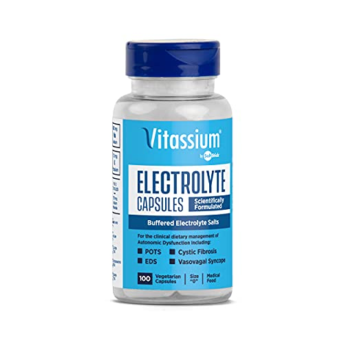 SaltStick Vitassium, Buffered Electrolyte Supplement Salt Capsules, SaltSticks with Electrolytes for Sodium & Potassium Replenishment, 100 Capsules