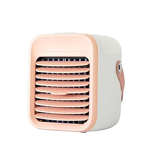 BDFS Enfriador de Aire Portátil, Mini Humidificador de Enfriadores Evaporativos 3 En 1, Ventilador de Enfriamiento de Aire Móvil de 3 Velocidades de Ventilador, Ventilador de Mesa USB 2000 MAh