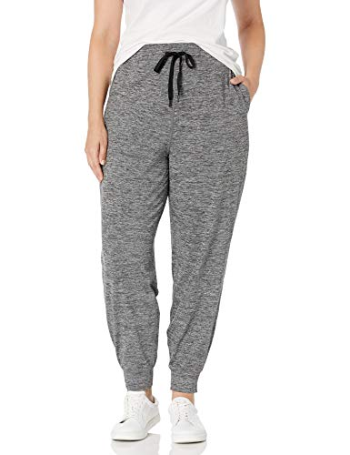 Amazon Essentials Brushed Tech Stretch Jogger Running-Pants, Dark Grey Spacedye, Small