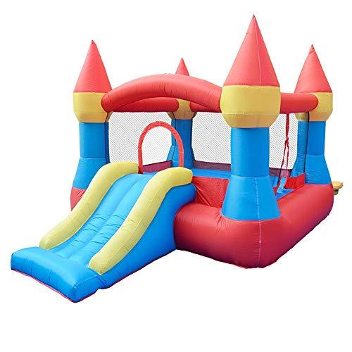 TXOZ-Q Flujo de Aire Castillo inflable elástico de rebote princesa Activity Centre, grueso resistente al desgaste de tela Oxford 420D cabrito casa al aire libre Jardín deslizante for Adultos (265 x 19