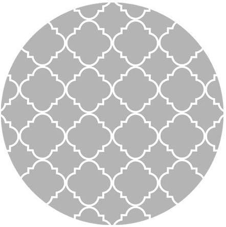supreme Light Grey Max 74% OFF Quatrefoil Pattern Cloth Pad Mouse Round 7.87