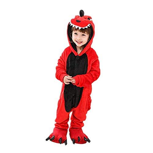 Nyyi Pijama Infantil de Una Pieza Pijama de Halloween para Niños Pijama de Dinosaurio Pijama Cosplay Apto para Niños de 2 a 12 Años