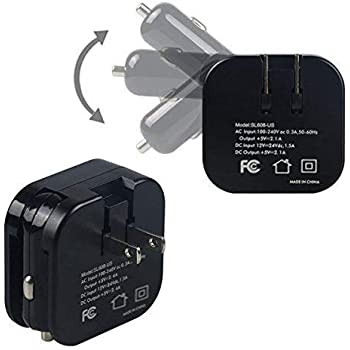 : 2 in 1 Compact Dual USB Wall Charger and Car