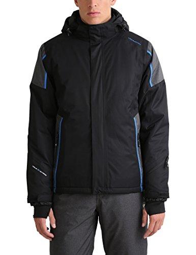 Ultrasport Herren Davos Skijacke, Schwarz/Blau, M