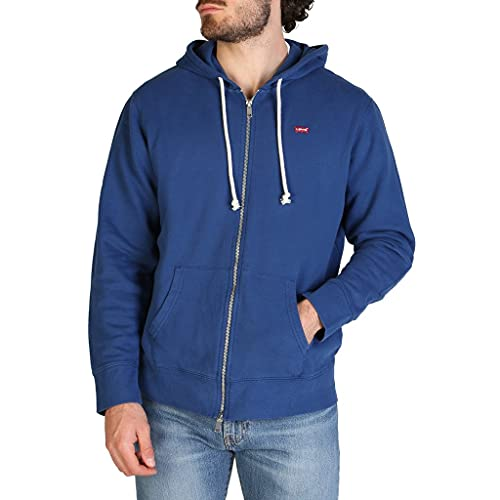 Levi's Herren Zip Up Sweatshirt, Navy Peony, L
