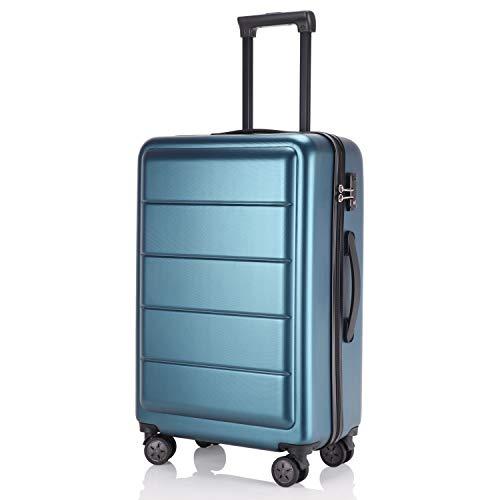 レーズ(Reezu) スーツケース 超軽量 TSAロック搭載 キャリーバッグ S M サイズ 小型 ファスナー キャリーケース 耐衝撃 ビジネス トランク 旅行出張 人気 大型 保管カバー付 1年保証 ブルー blue Mサイズ 約65L