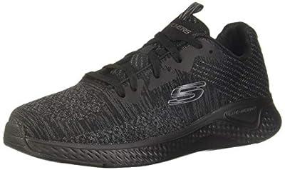 Skechers Men's Low-Top Trainers, Black (Black Mesh/Synthetic/Black Trim BBK), 45