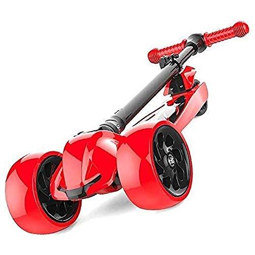 HYL Patinetes Barras de motos, Scooter adultos, Vespa Ruedas, Kick plegable que absorbe los golpes Kick, niño ajustable, ruedas de dirección con luz Pu y Límite, 220 libras de capacidad, con edades de