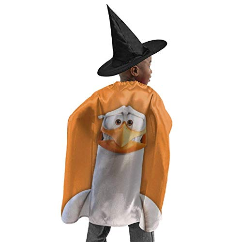 meilie Deluxe Halloween Kinder Kostüm Storch Zauberer Hexenumhang Cape Robe und Hut Set