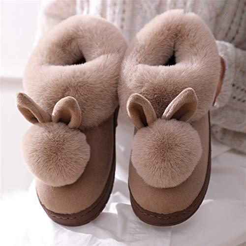 DEMXYA Moda para Mujer Linda Plus Pantallas de Felpa otoño Invierno algodón...