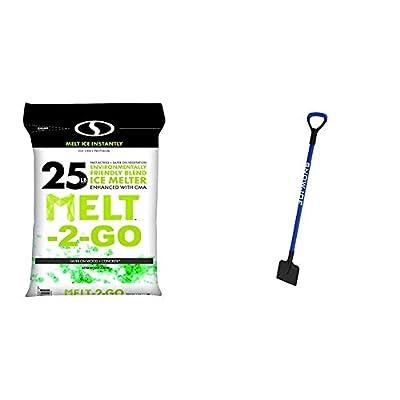 Snow Joe AZ-25-EB Melt-2-Go Nature + Pet Friendly CMA Blended Ice Melter, 25-lb Bag & SJEG700 7-Inch Impact Reducing Steel Ice Chopper