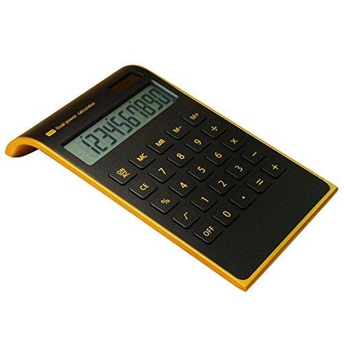 Calcolatrice Scientifica - Ultra sottile & elegante nero 10 cifre Dual Powered (Batteria/solare), Tilted LCD Display,JQ01