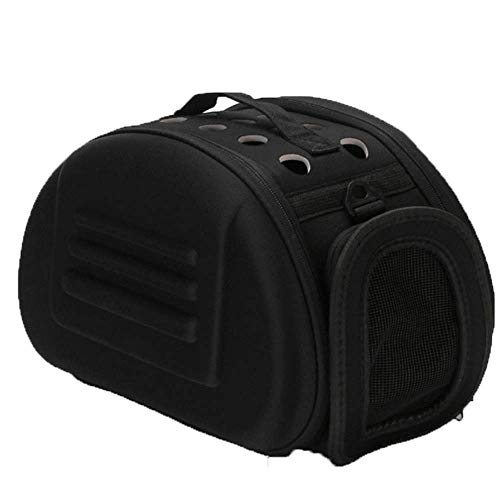 Lirui Opvouwbare draagtas voor honden en katten tot 15 kg. De transporttas met de patrijspoor; auto vliegtuig trekking van scheurbestendig mesh. zwart
