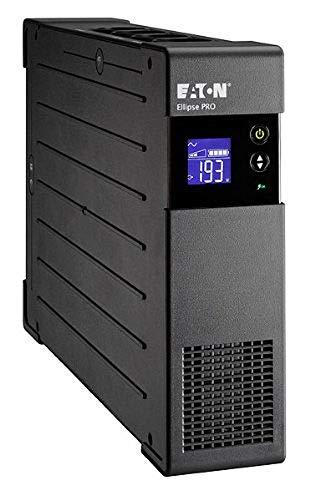 Eaton Ellipse PRO 1200 DIN - Unterbrechungsfreie Stromversorgung (USV) 1200 VA mit Überspannungsschutz (8 Schuko Ausgänge) und Spannungsregelung (AVR)