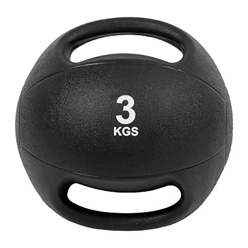 Viva Fitness Dual Handle Medicine Ball Weight 3kg 5kg Gym Exercise Unisex Ball (5.00)