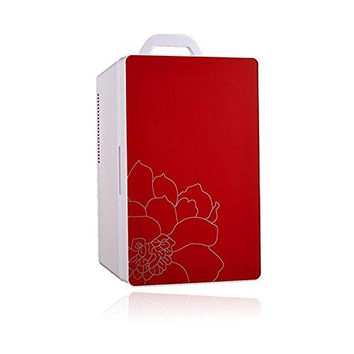 YIWANGO Cabinet Type Voiture Réfrigérateur Voiture Double Usage Réfrigérateur Voiture Petit Réfrigérateur 16L Réfrigérateur Chaud Et Froid Voiture Réfrigérateur Génération,Red-Dual-Core