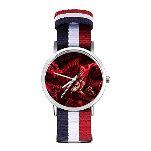 Reloj Trenzado Trébol Negro con Escala Moda Negocio Ajustable Banda de Impresión Color Banda de Impresión Adecuado tanto para Hombres como Mujeres