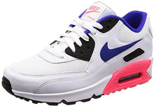 Nike Air Max 90 Essential, Scarpe da Ginnastica Uomo, Multicolore White Ultramarine Solar Red Bl 136, 42.5 EU