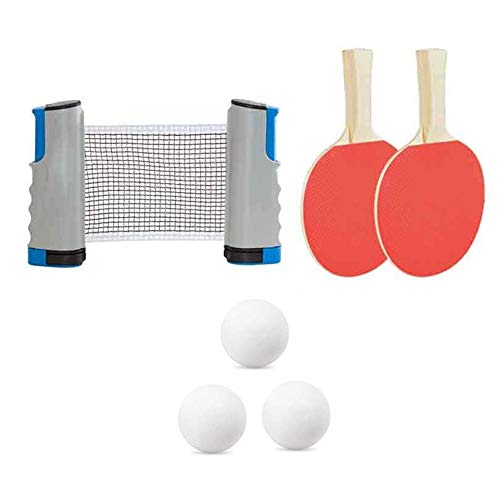 Best Review Of JIAJU Portable Travel Ping Pong Ball Set Indoor Outdoor Table Tennis Sets with Stretc...