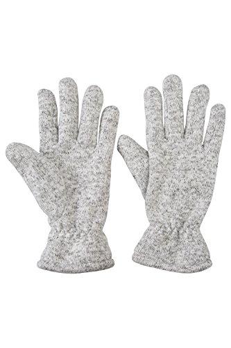 Mountain Warehouse Nevis Womens Fleece Gloves - Lightweight, Elastic Cuffs -Ideal for Winter Travel Gris Talla única