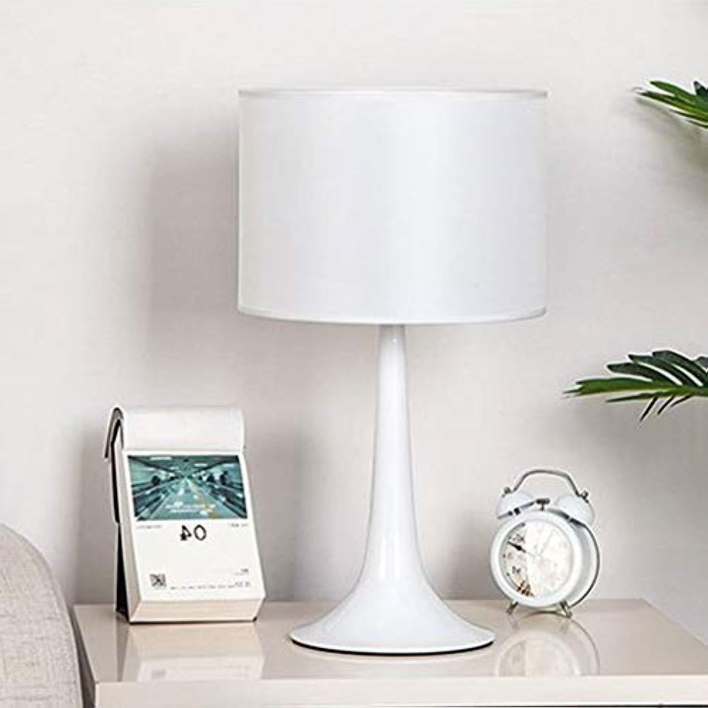 Multifunktions-Tischleuchte Hochwertige geheimnisvolle Schwarzweiss-Schmiedeeisen-Tischlampe Wohnzimmer Schlafzimmer Bedside Schlanke minimalistische dekorative Lichter (Farbe   Weiß)