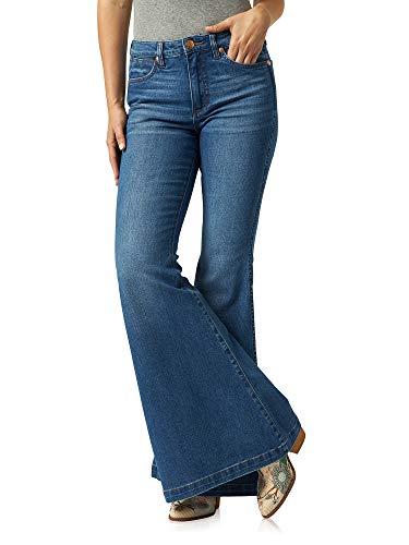 Wrangler Women's Retro Premium High Rise Trumpet Flare Leg Jean, Gabriella, 25W x 34L
