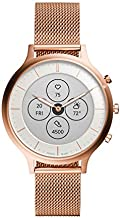 Fossil Women's 42mm Charter Stainless Steel Mesh Hybrid HR Smart Watch, Color: Rose Gold (Model: FTW7014)