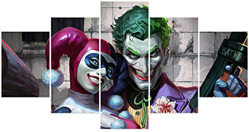 41wtbDsaRQL Harley Quinn Canvas Wall Art