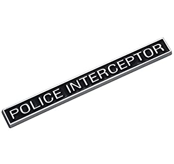 EmbRoom Police Interceptor Emblem 3D Emblems Trunk Nameplate Badge Sticker Decal Replacement for Explorer  1pcs Chrome