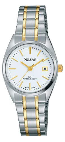 Pulsar Damen Analog Quarz Uhr mit Edelstahl Armband PH7441X1