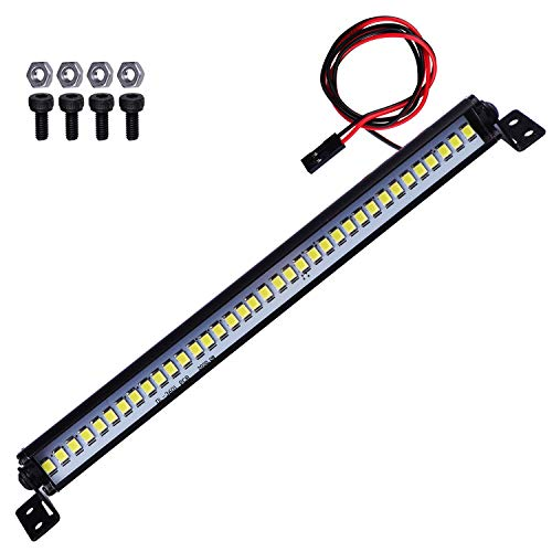 RC Crawler Light Bar Roof Lamp Kit w/36 Leds for 1/10 Traxxas TRX4 Axial SCX10 D90 (150mm / 5.9inch)