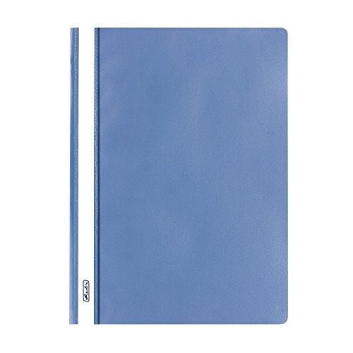 Herlitz 975441 Schnellhefter A4 PP mit transparentem Vorderdeckel, 10 Stück, blau